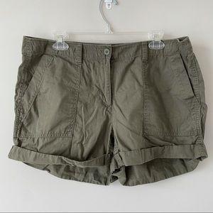 Loft green cargo shorts